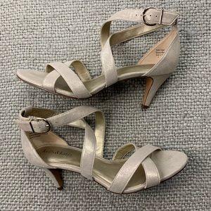 Kelly & Katie Shimmer Heel Sandals